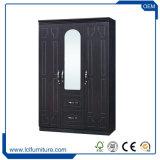 中国の工場3ドアMDFの寝室新しいデザインワードローブの戸棚