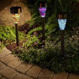 Chemin de lumière solaire en acier inoxydable Jardin lumière LED de la mosaïque pour pelouse paysage du parc