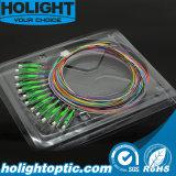 Pigtail da fibra óptica das cores da manutenção programada 12 de LC/APC