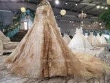 Aoliweiyaのウェディングドレス#2018の新しい到着#金のシャンペンの花嫁の服
