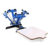 Impresora de seda de la prensa de la investigación de la estación de 4 colores 1 con Ce