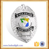 Insigne dur personnalisé de police d'émail de qualité gravé par souvenir