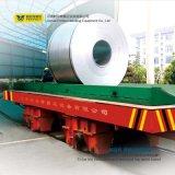 L'acciaio pesante arrotola il rullo di trasporto ferroviario