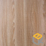 Papel impregnado melamina decorativa del grano de madera de roble para los muebles o suelo del fabricante chino