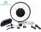 Pedel verde 48V 750W sin engranajes del cubo de rueda Kit de motor de bicicleta eléctrica con Batería Li-ion