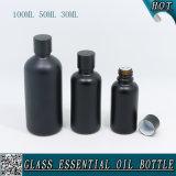 30ml 50ml negro mate de 100ml botella de aceite esencial de vidrio