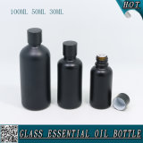 bottiglia di olio essenziale di vetro nera opaca di 30ml 50ml 100ml