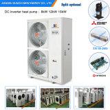 L'exécution à la Chambre R407c 12kw/19kw/35kw de mètre du chauffage d'étage de l'hiver de -20c 150sq Automatique-Dégivrent le chauffe-eau de Heatpump d'Evi