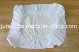 Completamente elástico de bambu branco natural do protetor do colchão de 100% em torno do colchão cabido acolchoado da almofada do colchão