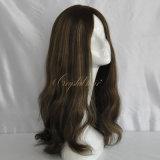 人間の毛髪のPontailsのハイエンド絹の上のかつら(PPG-l-0641)
