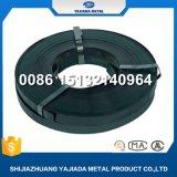 紐で縛る黒い&Blueの鋼鉄金属鋼鉄パッキングストリップ