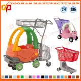 Supermarkt-Plastikeinkaufen-Laufkatze mit Spielzeug-Auto (Zht51)