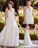 Strapless Suite Beca Espartilho Lace vestido de casamento A17096 com rebordo