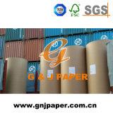 Blanc avec du papier journal au papier kraft brun de l'emballage