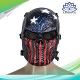 Costume esterno della mascherina del cranio di Halloween della mascherina dei regali di Airsoft Paintball del fronte pieno di protezione del cranio dell'esercito promozionale della mascherina per la mascherina del partito di Halloween