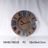 Домашняя декоративная MDF и металлические часы на стене оформление