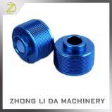 Blue Usinagem Tornos CNC de alumínio anodizado parte