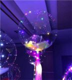 [3م] [30لدس] حزب زخرفيّة منطاد هليوم [بوبو] منطاد مع نحاسة [لد] ضوء