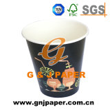 Dessins et modèles personnalisés 22oz à paroi simple tasse en papier jetables potable chaude
