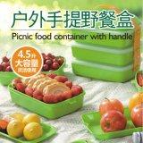 3 층 큰 양 플라스틱 Bento 도시락 음식 콘테이너 20029