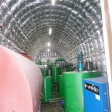 Converter para resíduos de óleo da base de óleo do motor fazendo a máquina
