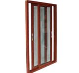 Portello scorrevole della prova del grano di legno di vetro esterno sano di alluminio di Temperd