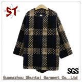 Senhoras de alta qualidade OEM para baixo casaco gola redonda casaco curto