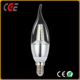 C35 Cola Vela LED 2W E14 Lámpara de filamento caliente la venta de lámpara LED Bombillas LED mejor precio