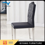 Hotel mobiliário de couro preto e branco Cadeira de jantar