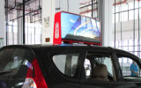 High Brightness Outdoor LED Ad Player Mount sur le toit de voiture de P5, P6