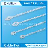 Spingere gli involucri di nylon della chiusura lampo del supporto