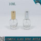 10ml噴霧器が付いている円形の明確なガラススプレーの香水瓶