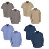 Mann-industrielles Baumwollmarine-Arbeits-Hemd 100% (A1004)