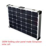 Pila solare solare piegante del comitato 160watt Sunpower