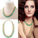 Le gland de Bohème de résine acrylique de mode perle le bijou de collier de foulard