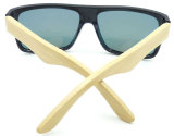 I vetri di Sun di bambù del tempiale di grande del blocco per grafici F17151 stile del Mens hanno polarizzato Sunglass