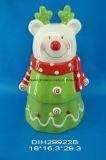 Vaso di biscotto di ceramica dipinto a mano della renna