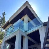 屋外のバルコニーの鉄道システムのためのFramelessのスタンドオフのガラス柵
