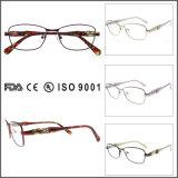 Frame vermelho do Eyeglass das mulheres do frame de Eyewear do metal