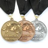 Medalla de encargo al por mayor de la concesión del deporte de la plata de la antigüedad del metal de Corea Jiu-Jitsu