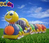 熱い販売のフルーツのワームの膨脹可能なトンネルのゲームの子供のための膨脹可能な障害トンネル