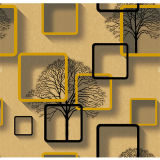 Wasserdichte tapeten-Ausgangsdekoration Belüftung-3D Wand