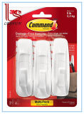 Blanco utilitario grande, 3-Hooks, gancho de leva 6-Strips