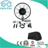 jogo elétrico da bicicleta da roda de 48V 500W com para baixo a bateria da câmara de ar