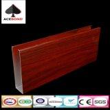 Limite de metal em forma de U de madeira do Defletor do forro de teto de alumínio Sharped U