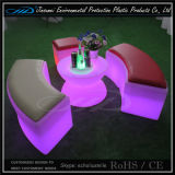 Mobília iluminada do diodo emissor de luz do cubo do RGB cadeira recarregável moderna