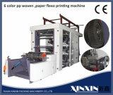 Stampatrice flessografica di 6 colori con il taglio automatico di controllo della cinghia di sincronizzazione che cambia Rolls