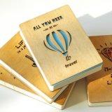Impressão personalizada de madeira do caderno da boa qualidade da tampa
