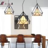 Свет шкентеля столовой металла E27 60W полигональный