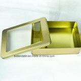 Qualitäts-förderndes kundenspezifisches kleines rechteckiges Metallplätzchen/Schokoladen-Zinn-Kasten